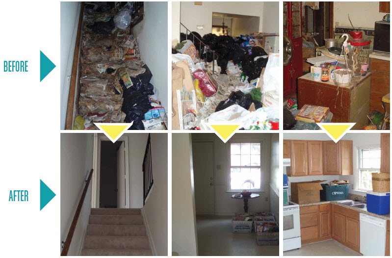 Hoarder Cleanup Services Before and After